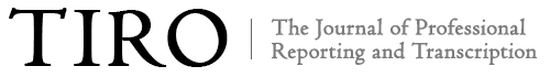 The Journal of Professional Reporting and Transcription